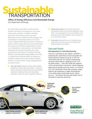 Primary view of object titled 'Sustainable Transportation (Fact Sheet)'.
