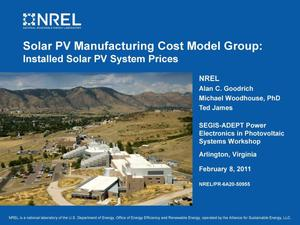 Primary view of object titled 'Solar PV Manufacturing Cost Model Group: Installed Solar PV System Prices (Presentation)'.