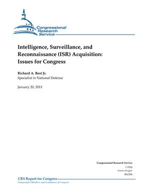 Intelligence, Surveillance, and Reconnaissance (ISR) Acquisition: Issues for Congress