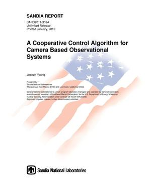 Primary view of object titled 'A cooperative control algorithm for camera based observational systems.'.