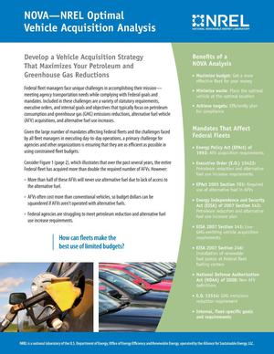 Primary view of object titled 'NOVA-NREL Optimal Vehicle Acquisition Analysis (Brochure)'.