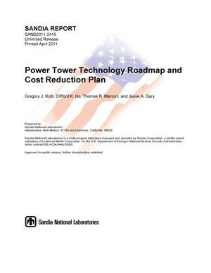 Primary view of object titled 'Power Tower Technology Roadmap and cost reduction plan.'.