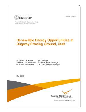 Primary view of object titled 'Renewable Energy Opportunties at Dugway Proving Ground, Utah'.