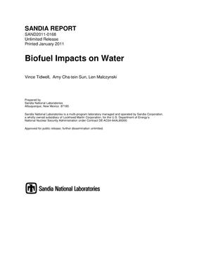 Primary view of object titled 'Biofuel impacts on water.'.