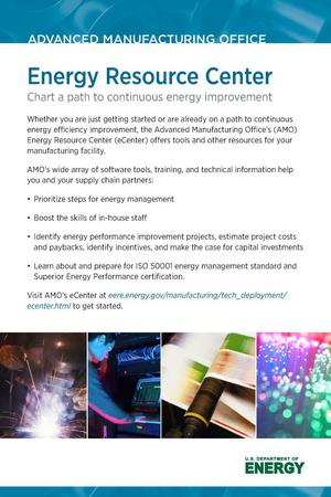 Primary view of object titled 'Energy Resource Center: Chart a Path to Continuous Energy Improvement (Postcard)'.