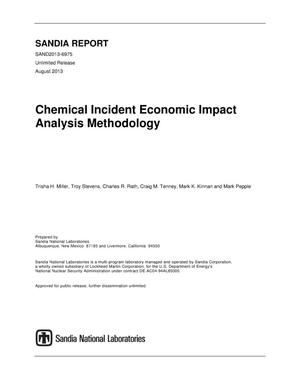 Primary view of object titled 'Chemical incident economic impact analysis methodology.'.