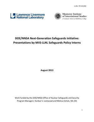 Primary view of object titled 'Presentations by MIIS-LLNL Safeguards Policy Interns'.