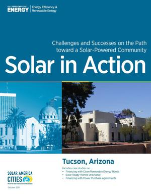 Primary view of object titled 'Tucson, Arizona: Solar in Action (Brochure)'.