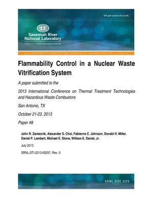 Primary view of object titled 'Flammability Control In A Nuclear Waste Vitrification System'.