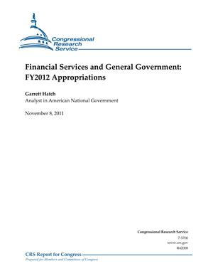 Financial Services and General Government: FY2012 Appropriations