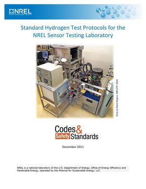 Primary view of object titled 'Standard Hydrogen Test Protocols for the NREL Sensor Testing Laboratory (Brochure)'.