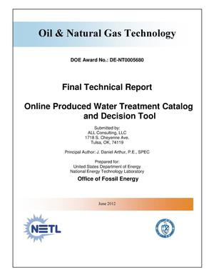 Primary view of object titled 'Online Produced Water Treatment Catalog and Decision Tool'.