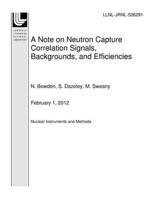 Primary view of object titled 'A Note on Neutron Capture Correlation Signals, Backgrounds, and Efficiencies'.