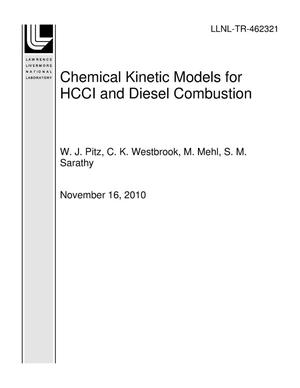 Primary view of object titled 'Chemical Kinetic Models for HCCI and Diesel Combustion'.