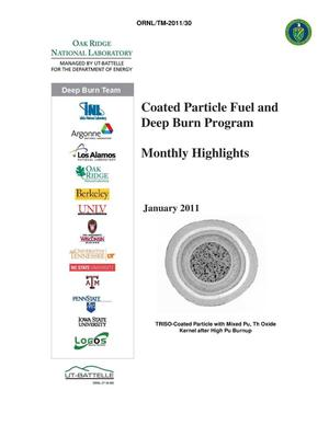 Primary view of object titled 'Coated Particle Fuel and Deep Burn Program Monthly Highlights January 2011'.