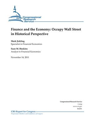 Finance and the Economy: Occupy Wall Street in Historical Perspective