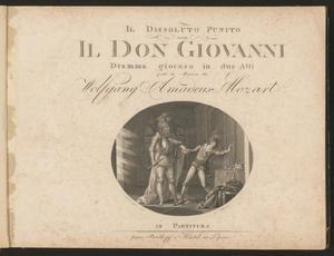 Primary view of Don Juan, oder, Der Steinerne Gast : komische Oper in zwey Aufzügen, volume 1