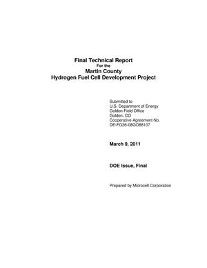 Primary view of object titled 'Final Technical Report for the Martin County Hydrogen Fuel Cell Development Project'.