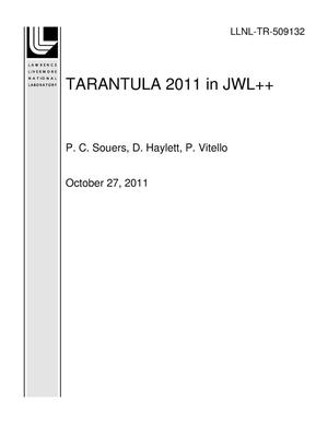 Primary view of object titled 'TARANTULA 2011 in JWL++'.