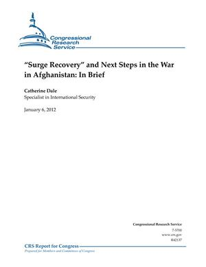 """Surge Recovery"" and Next Steps in the War in Afghanistan: In Brief"