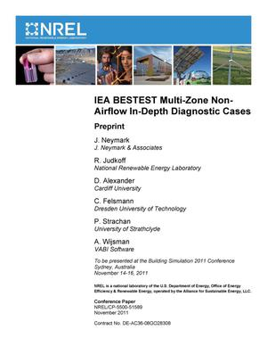 Primary view of object titled 'IEA BESTEST Multi-Zone Non-Airflow In-Depth Diagnostic Cases: Preprint'.