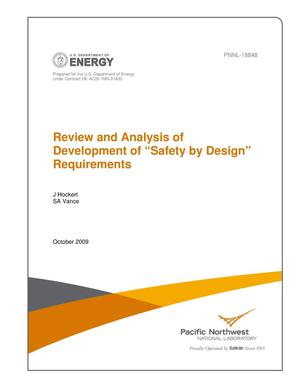 "Primary view of object titled 'Review and Analysis of Development of ""Safety by Design"" Requirements'."