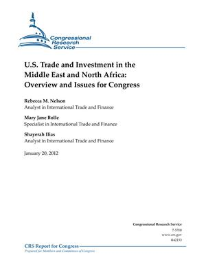 U.S. Trade and Investment in the Middle East and North Africa: Overview and Issues for Congress