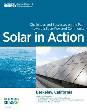 Primary view of object titled 'Berkeley, California: Solar in Action (Brochure)'.