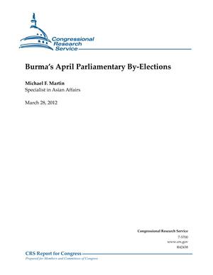 Burma's April Parliamentary By-Elections