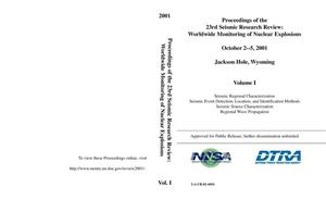 Primary view of object titled 'Proceedings of the 23rd Seismic Research Symposium: Worldwide Monitoring of Nuclear Explosions'.