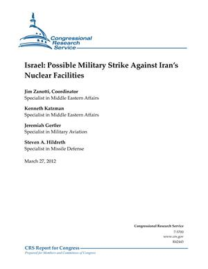 Israel: Possible Military Strike Against Iran's Nuclear Facilities