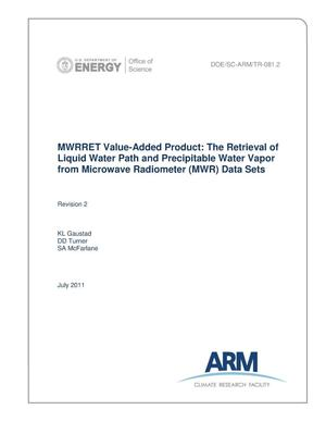 Primary view of object titled 'MWRRET Value-Added Product: The Retrieval of Liquid Water Path and Precipitable Water Vapor from Microwave Radiometer (MWR) Data Sets (Revision 2)'.