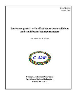 Primary view of object titled 'Emittance growth with offset beam-beam collisions and small beam-beam parameters'.