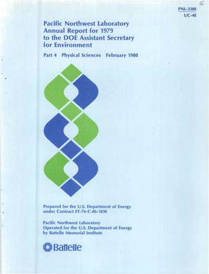 Primary view of object titled 'Pacific Northwest Laboratory Annual Report for 1979 to the DOE Assistant Secretary for Environment Part 4 Physical Sciences'.