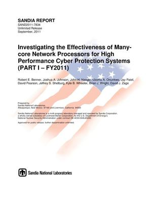 Primary view of object titled 'Investigating the effectiveness of many-core network processors for high performance cyber protection systems. Part I, FY2011.'.