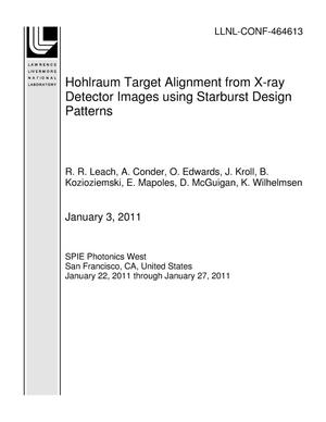 Primary view of object titled 'Hohlraum Target Alignment from X-ray Detector Images using Starburst Design Patterns'.