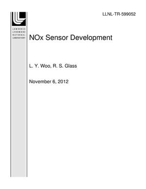 Primary view of object titled 'NOx Sensor Development'.