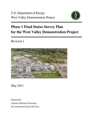 Primary view of object titled 'Phase 1 Final status survey plan for the West Valley demonstration project.'.