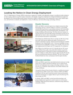 Primary view of object titled 'Leading the Nation in Clean Energy Deployment (Fact Sheet)'.