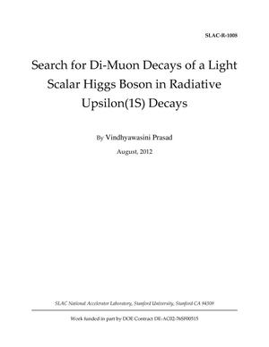 Primary view of object titled 'Search for Di-Muon Decays of a Light Scalar Higgs Boson in Radiative Upsilon(1S) Decays'.