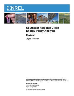 Primary view of object titled 'Southeast Regional Clean Energy Policy Analysis (Revised)'.