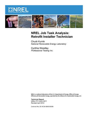 Primary view of object titled 'NREL Job Task Analysis: Retrofit Installer Technician (Revised)'.