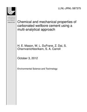 Primary view of object titled 'Chemical and mechanical properties of carbonated wellbore cement using a multi-analytical approach'.
