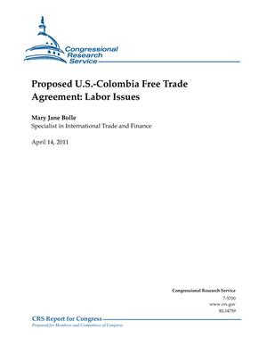 Proposed U.S.-Colombia Free Trade Agreement: Labor Issues