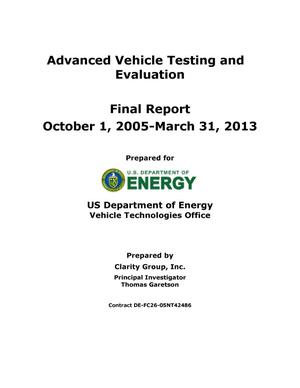 Primary view of object titled 'Advanced Vehicle Testing and Evaluation'.