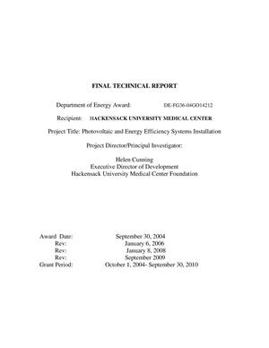 Primary view of object titled 'Final Scientific Report'.