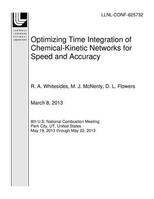 Primary view of object titled 'Optimizing Time Integration of Chemical-Kinetic Networks for Speed and Accuracy'.