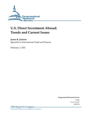 U.S. Direct Investment Abroad: Trends and Current Issues