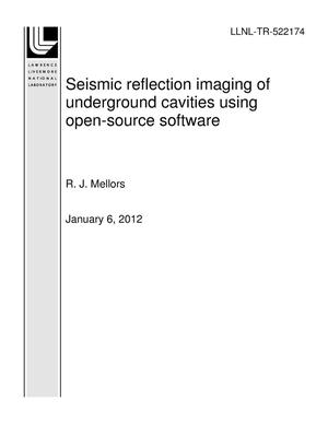 Primary view of object titled 'Seismic reflection imaging of underground cavities using open-source software'.