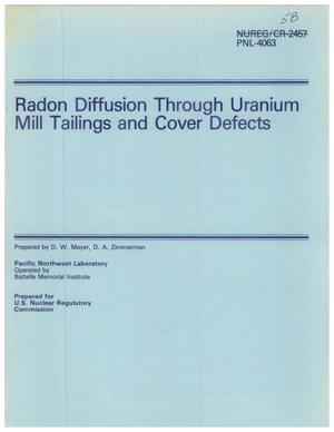 Primary view of object titled 'Radon Diffusion Through Uranium Mill Tailings and Cover Defects'.